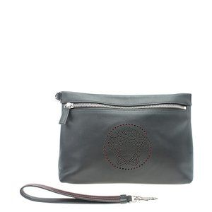 Versace Medusa Perforated Black Clutch Bag 182873